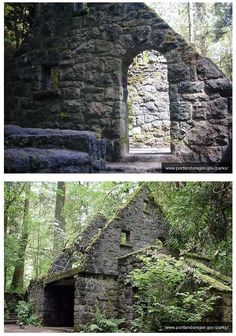 Hike to the Witch's House or the Stone House in Portland, Oregon.