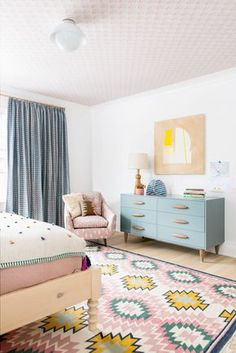 fresh and fun bedroom design in layered pattern and pastels by cortney bishop design house tour on cocok elley Girls Bedroom, Girl Room, Bedroom Decor, Bedroom Ideas, Pastel Bedroom, Decoracion Vintage Chic, Pastel Pattern, European Home Decor, Awesome Bedrooms