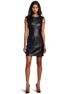 French Connection Women's Navajo Leather Dress: Clothing