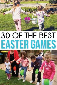 The Best Easter Games! - The Best Easter Games! The ultimate collection of Easter party games and activities! Everything from coloring pages to printables, crafts, and more! Easter Party Games, Easter Activities For Kids, Kids Party Games, Easter Crafts For Kids, Craft Party, Toddler Activities, Fun Games, Games For Easter, Easter Egg Hunt Ideas