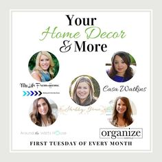Link up your home decor, decorating & DIY projects with us monthly.  We will share across all 5 social media accounts, link to our party Pinterest page, and feature our favorites! | My Life From Home | www.mylifefromhome.com