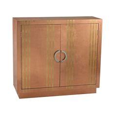 Dimond Home Gold Stripe Copper Cabinet.