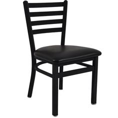 BFM Seating Lima Black Metal Ladder Back Restaurant Chairs - Padded Seat at Classroom Essentials Online. Call today for discount prices on restaurant, café & bistro chairs! Restaurant Furniture, Restaurant Chairs, Restaurant Bar, Restaurant Facade, Ladder Back Chairs, Side Chairs, Bistro Chairs, Dining Chairs, Dining Area