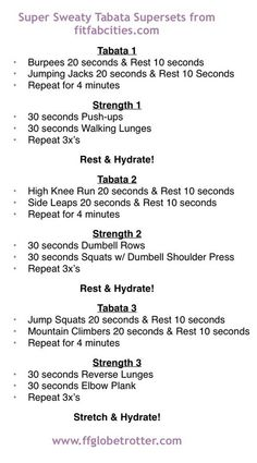 Tabata Supersets
