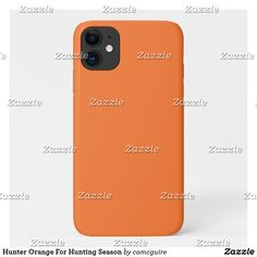 Shop Hunter Orange For Hunting Season Case-Mate iPhone Case created by camcguire. Iphone 11, Apple Iphone, Iphone Cases, Customizable Gifts, Hunting Season, Plastic Case, Seasons, Orange, Seasons Of The Year