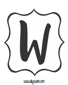 White and Black Letter_W