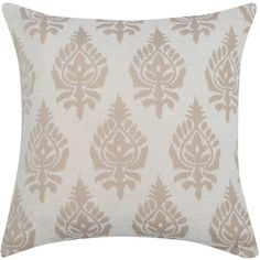 M&Co Chenille Damask Cushion (27 CAD) ❤ liked on Polyvore featuring home, home decor, throw pillows, cream, beige throw pillows, textured throw pillows, damask throw pillows, cream throw pillows and damask home decor