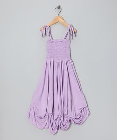 Take a look at this Lavender Smocked Jersey Infinity Dress by Must-Have Maxis Collection on @zulily today!