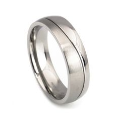Simple design titanium wedding rings for men