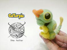 Caterpie Needle felt Pokemon by LeonTheFelter on Etsy