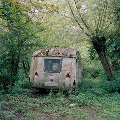 weathered caravan