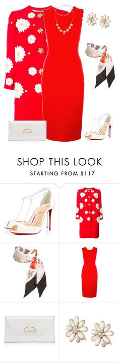 """outfit 3590"" by natalyag ❤ liked on Polyvore featuring Christian Louboutin, Dolce&Gabbana, Gucci, A.L.C., Van Cleef & Arpels and Kensie"