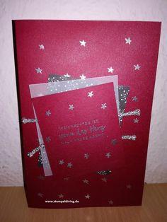 #13. Dezember-Karte, Weihnachtskarte, Winterstädtchen, Stempeldiving
