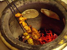 Behold, the blessed tandoor. The oven responsible for all sorts of deliciousness, including tandoori chicken (there's a shocker, eh?) samosas and chicken tikka.