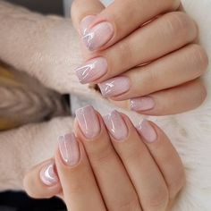 Nail art Christmas - the festive spirit on the nails. Over 70 creative ideas and tutorials - My Nails Love Nails, Pretty Nails, My Nails, Rose Gold Nails, Matte Nails, Stiletto Nails, Coffin Nails, Acrylic Nails, Solid Color Nails
