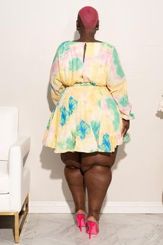 Plus Size Pixie Floral Baby Doll Dress Yellow Multi - Plus Size Party Dresses - Ideas of Plus Size Party Dresses Thick Girl Fashion, Curvy Women Fashion, Plus Size Fashion, Plus Size Party Dresses, Cute Dresses, Curvy Girl Outfits, Looks Plus Size, Pretty Black Girls, African Women