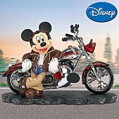 mickey mouse motorcycle figurines | Disney Mickey Mouse Collectible Mousin' Around Figurine review at ...