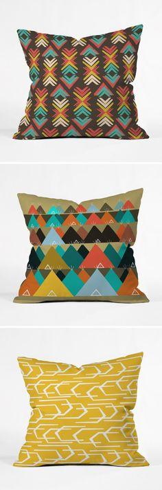 Cool Graphic Pillows / Mountain Inspired