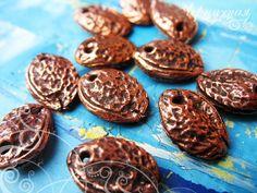 Bronze pendant set Seed 2 pcs in set. 1567 by AnnaChernykhFindings, $4.60