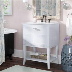 Charlton Home Kathline Single Bathroom Vanity Set Single Bathroom Vanity, Small Bathroom, Single Vanities, Bathroom Ideas, Bathroom Organization, Bathroom Storage, Green Bathrooms, Neutral Bathroom, Master Bathrooms