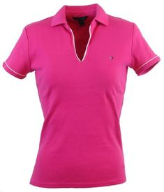 Tommy Hilfiger Women Classic Fit Buttonless Logo Polo Shirt $44.99 (save $15.00) + Free Shipping