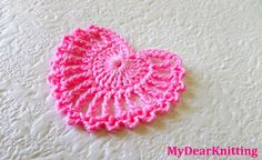 How to make very beautiful and easy crochet heart