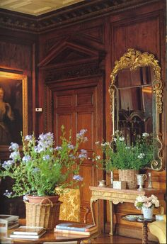 "AD devoted an issue to ""the English Country House."" the home of John and Diane Nutting - Chicheley Hall in Buckinghamshire. by English Decorator Tom Parr English Country Manor, English House, English Style, Town And Country, Country Decor, Country Houses, Hampshire, Chateau Hotel, Style Anglais"