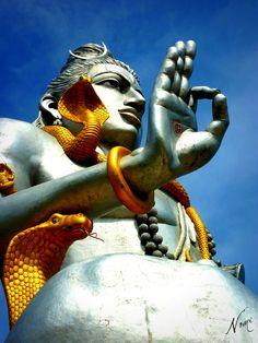 """HINDUISMO  - 18. """"A maioria dos hindus adora muitos deuses como expressões variadas do mesmo prisma da Verdade. Entre os mais populares estão Vishnu (como Krishna ou Rama), Shiva, Devi (a Mãe de muitas deidades femininas, como Lakshmi, Sarasvati, Kali e Durga), Ganesha, Skanda e Hanuman"""" (Fonte: Wikipédia) - Da pasta: Tradições, Mitologias, Ícones, Holismo.   Lord Shiva"""