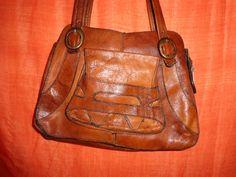 Vintage Handtaschen - Tasche*Vintage*Braun*Leder*70er* - ein Designerstück von SweetSweetVintage bei DaWanda
