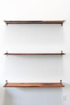 DIY Ikea Hack Distressed Wooden Shelves - Sugar & Cloth - DIY - Houston Blogger - Home Decor