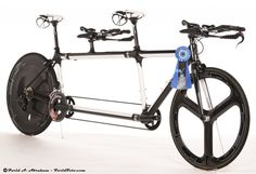 Calfee carbon and bamboo tandems are the frames against which all others are measured; Very simply, the best tandem bicycles in the world. Tandem Bicycle, Motorized Bicycle, Trial Bike, Speed Bike, Great Inventions, Bicycle Design, Cycling Gear, Sidecar, Tricycle