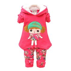 BibiCola 2017 New Baby Girl Clothes Set Children Hoodies Spring Autumn Clothing Set Kid Sport Suit Set Baby T-shirt+Pants 2Pcs