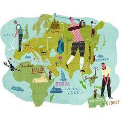 Martin Haake - Golf map