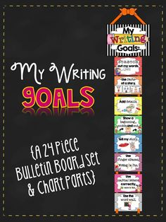"help students to become more accountable and responsible for their learning during Writer's Workshop with ""writing goal"" clip chart"