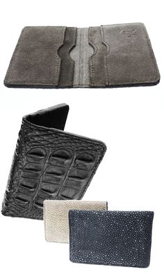 These #ValenzHandmade leather wallets come embossed in crocodile, python and even stingray!