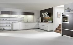 Kitchen. Have White Aluminium Composite Kitchen Island Stainless Counter Top Stainlss Wall Mount Rack Black Wooden Pattern Laminated Wall Mounted Top Cabinet White Finish Polishcopter Concrete Floor. Aluminium Composite ( Alucom ) Material Make a Nicer Kitchen Furniture