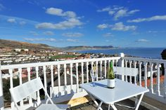 Roof terrace at Barnacles - awesome sea views!