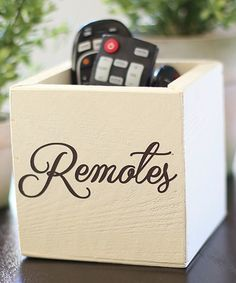 Another great find on #zulily! Rustic 'Remotes' Holder #zulilyfinds
