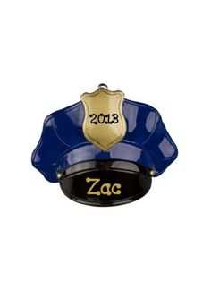$4.75 Police Hat Ornament