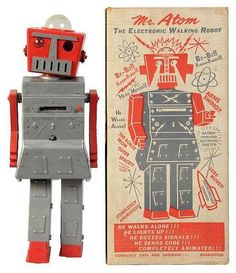 7 Humanoid Toy Robots from the Original Space Age @N_G_M_Magazine #pimzond #robots #sci-fi