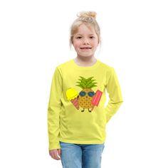 Geschenke Shop | Ananas - Kinder Premium Langarmshirt Shops, Baby Kind, Kind Mode, Arm, Graphic Sweatshirt, Sweatshirts, Sweaters, Fashion, Pineapple
