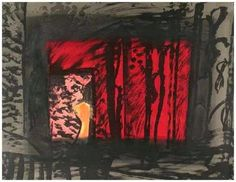 Available for sale from Hamilton-Selway Fine Art, Howard Hodgkin, Blood (with hand coloring) Lithograph, 31 × 40 in Figure Painting, Painting & Drawing, Howard Hodgkin, Paintings Famous, Fine Art Gallery, Hand Coloring, Contemporary Art, Abstract Art, Artsy