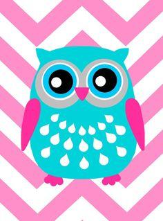 'Chevron Owl' by Tessyla Prints