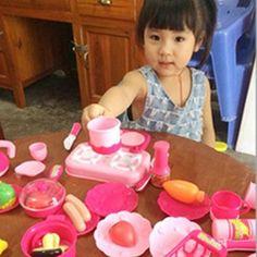 Barato 40 pçs/set rosa Food cozinha que cozinha Role Play Pretend do bebê meninas brinquedo de criança, Baby kid brinquedos de cozinha de plástico, Gift # 1JT, Compro Qualidade Cozinhas de brinquedo diretamente de fornecedores da China:                Boneca de madeira casa de bonecas