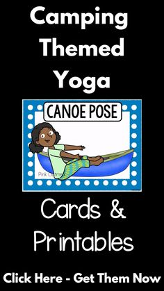 Camping Yoga Camping themed yoga cards and printables designed for fun camping themed movement. A great gross motor activity. A fun camping themed activity to go along with your forest or camping theme. Use these in the classroom, home, daycares or ther Summer Camp Themes, Camping Activities For Kids, Gross Motor Activities, Summer Activities, Toddler Activities, Preschool Camping Activities, Movement Activities, Preschool Kindergarten, Therapy Activities