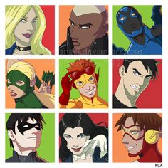Young Justice Assortment by Kitty-Cat-Angel.deviantart.com on @DeviantArt
