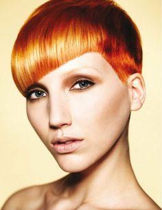 #women #short #hair #orange #kurze #haare #schöner #schnitt #pony