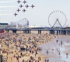 The Airshow at Blackpool Lancashire England in 2017