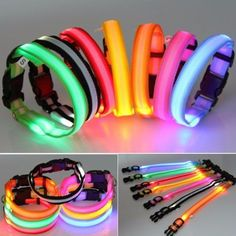 A Must Have For All Dog Owners - Walk Your Dogs With The Safety Of These Trendy LED Collars! Features: - LED light glows and flashes in darkness. - Bright light can be seen from far away. - Helps to k