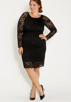 plus size lace sheath dress - #maurices